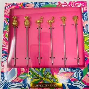 New Lilly Pulitzer gwp metal appetizer picks!